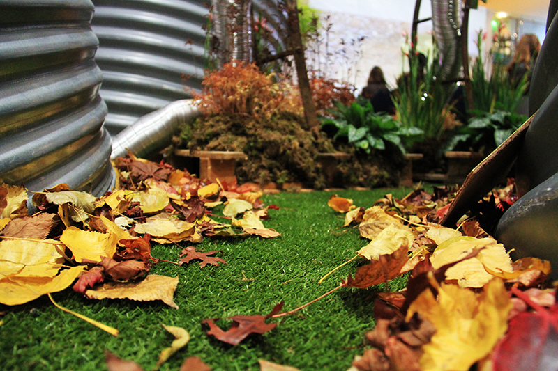 A picture of some artificial grass installed at the RHS Shades of Autumn Show 2013