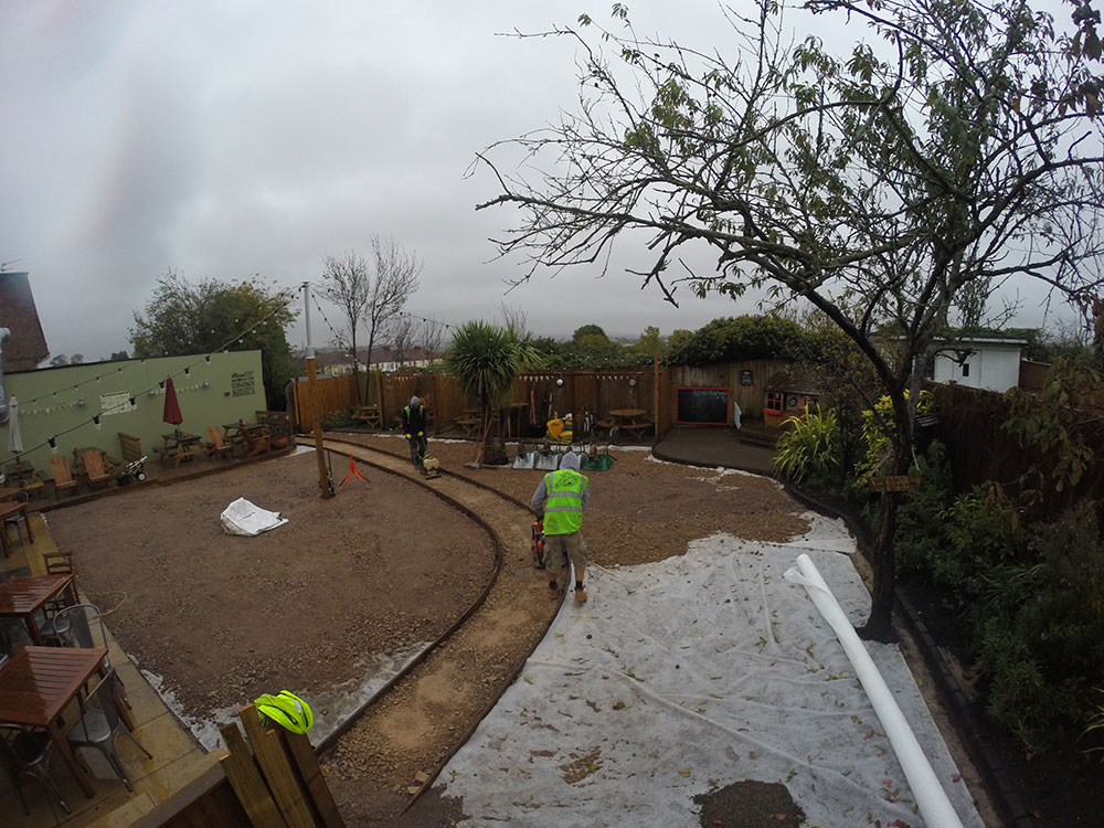A picture of a commercial artificial grass installation in Horfield Bristol by Turf King