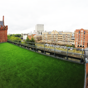 artificial grass installed on a roof terrace in Bristol by Turf King