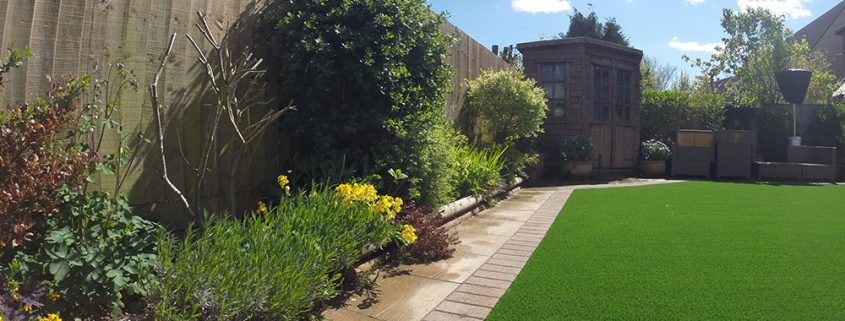 A picture of a luxury artificial grass installation in Bristol UK by Turf King